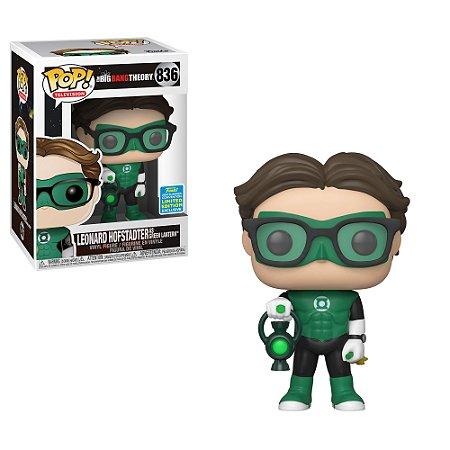 Funko Pop! Television: Big Bang Theory - Leonard Hofstadter as Green Lantern (2019 Summer Convention) #836