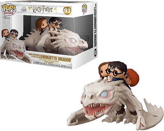 Funko Pop! Rides - Harry Potter - Harry Potter, Hermione & Ron with Gringott's Dragon #93