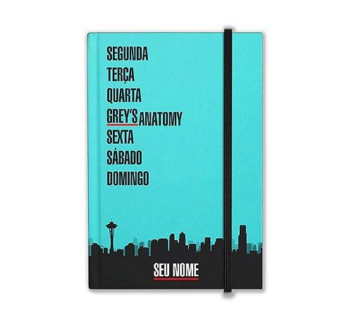 Caderneta Grey's Anatomy com nome