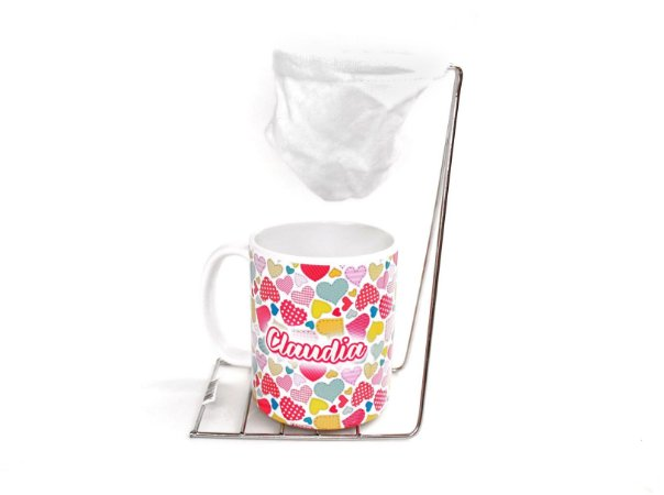 Caneca e coador de café