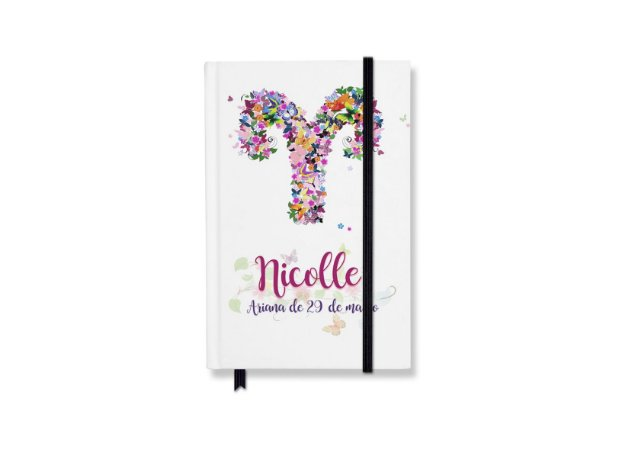 Caderneta Signo com nome e aniversário