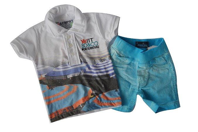 Conjunto Polo Jeans Color Monterroso