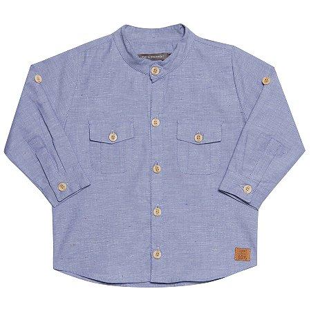 Camisa Bata Espuma Azul masculina
