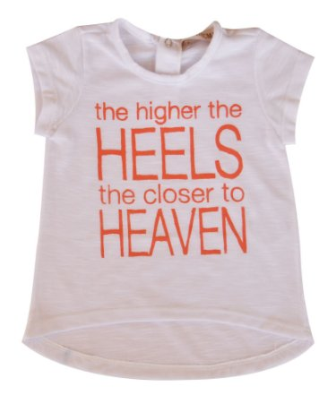 Camiseta Bebê Branca Heels
