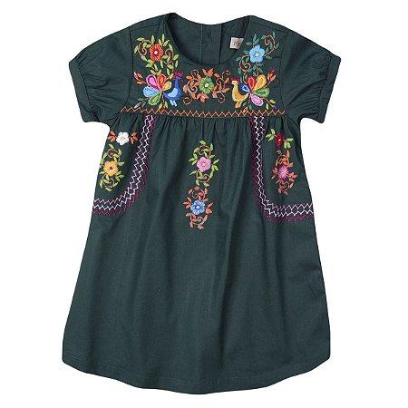 Vestido Giovanna Verde Musgo