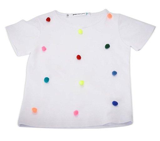 Camiseta PomPom Branca