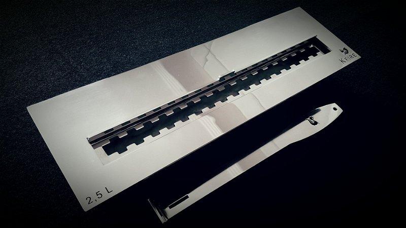 Queimador Inox 50cm COM REGULAGEM DE CHAMA