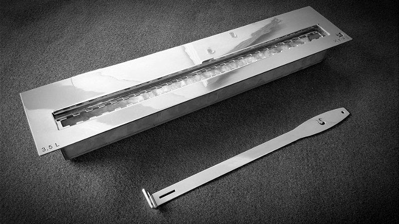 Queimador Inox 70cm COM REGULAGEM DE CHAMA