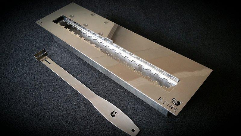 Queimador Inox 40cm COM REGULAGEM DE CHAMA