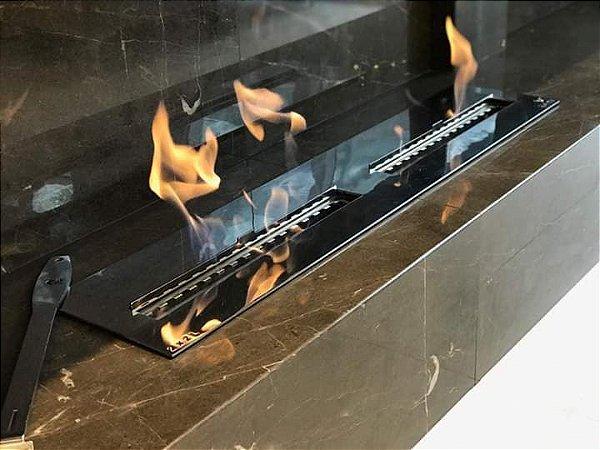 Queimador Inox DUPLO 140 cm COM REGULAGEM DE CHAMA