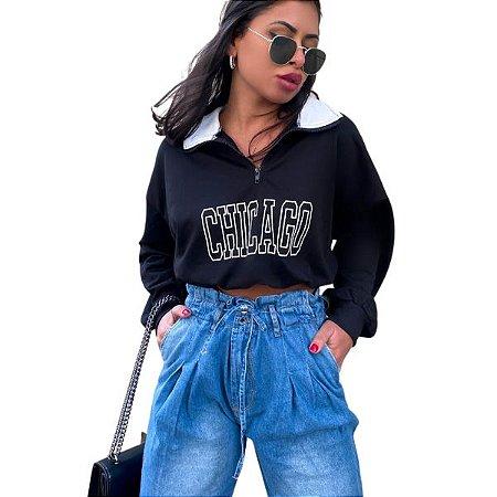 Calça Jogger Jeans Lavagem Clara