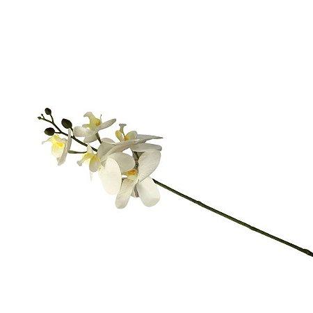 Flor Orquidea Branca c/5 W300-126 Mini silicone