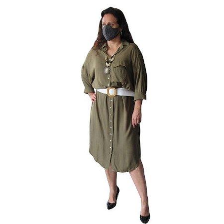 Vestido Verde Militar c/ Cinto