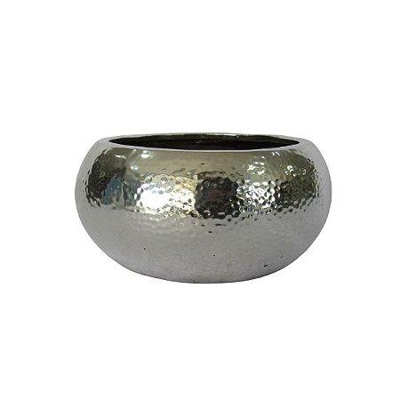 Vaso Cerâmica c/ Acabamento em Metal