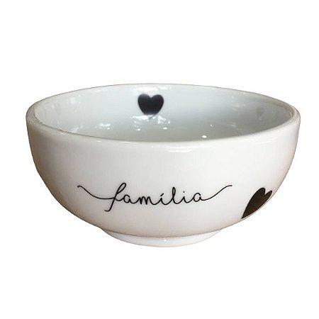 Bowl de Porcelana Familia Coração Preto