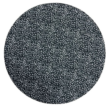 Capa De  Sousplat Dupla Face Preto c/rabisco Branco / Listrado Vermelho e Branco 35 cm diâmetro