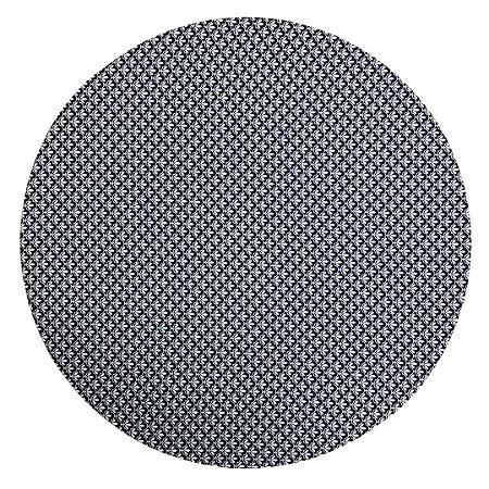 Capa de Sousplat Azul Marinho com Arabescos Brancos 35 cm diâmetro
