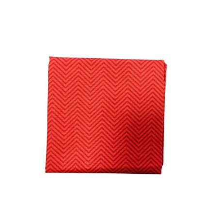 Guardanapo Tricoline - Vermelho c/ Chevron Vermelho