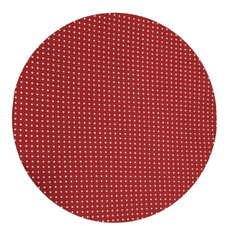 Capa de  Sousplat Vermelho c/ Poá Branco 35 cm diâmetro