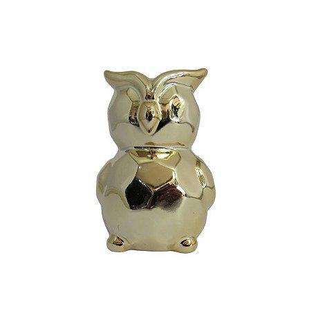 Objeto Decorativo Coruja Dourada