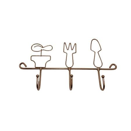 Gancho de Parede para cozinha de ferro Rose Gold