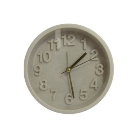 Relógio Despertador de Mesa Bege