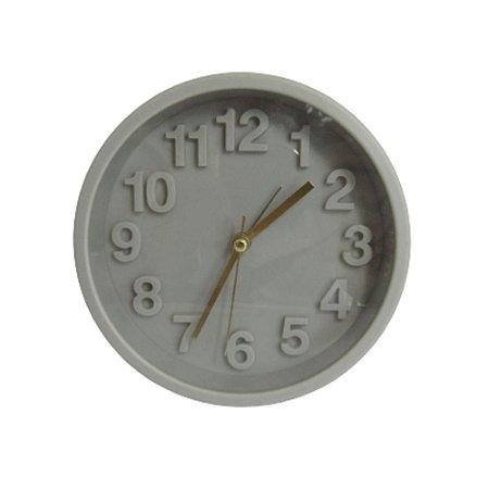 Relógio Despertador de Mesa Cinza