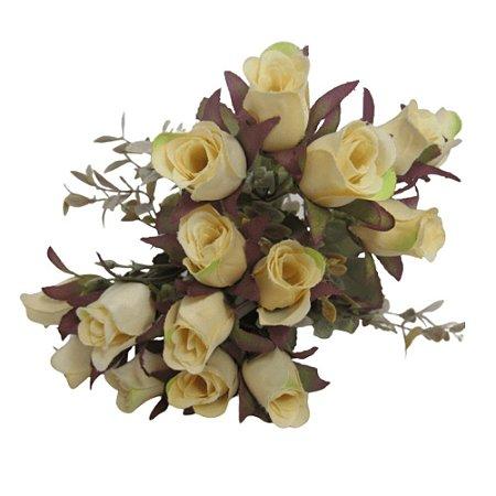Flor Botão de Rosa c/5x15 DR002 MESCLADA 34CM