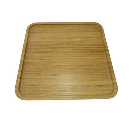 Bandeja Quadrada de Bambu Natural 30x30x1.8