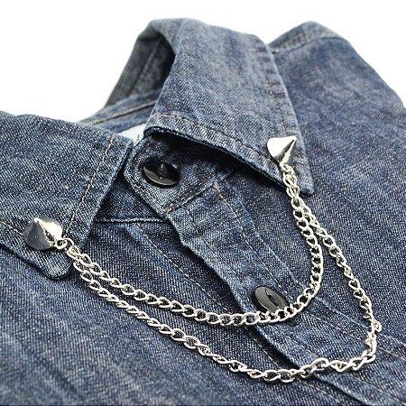 Collar Tips Spike Prateado