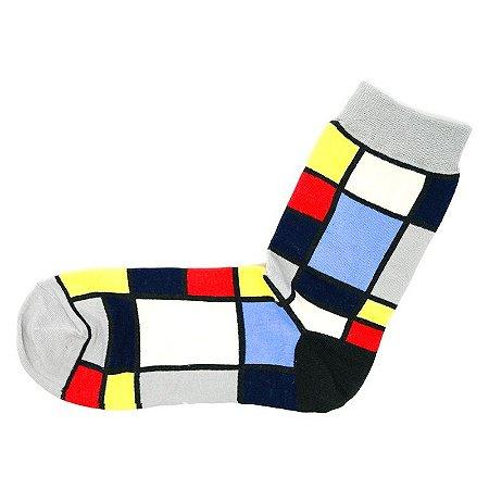 Par de Meias Mondrian
