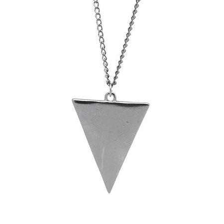 Colar Triângulo Cromado