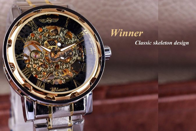 Relógio Mecânico Luxo T-WINNER