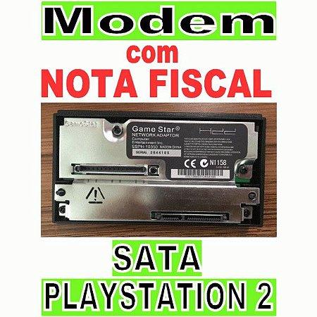 Network Adapter Modem Ps2 Playstation2 Fat Modelo Sata Preto