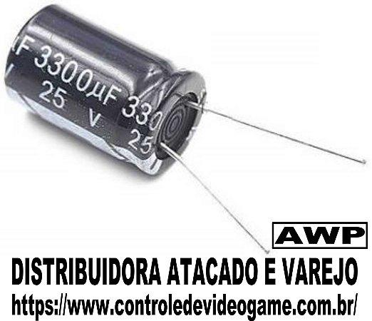 kit 10 capacitor eletrolitico 25v 3300uf fonte arduino projeto