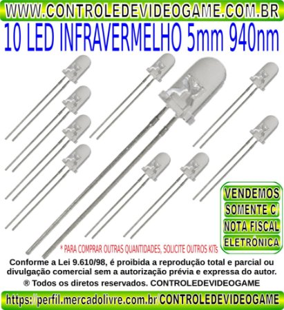 led infravermelho 5mm 940nm led infrared