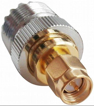 adaptador conector sma macho x so239 femea para radios radioddity yaesu vertex