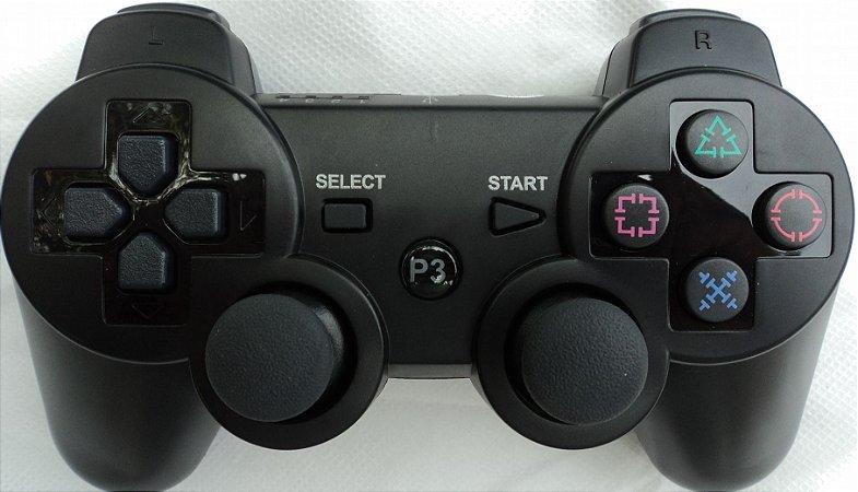 controle de videogame ydtech de ps3 sem fio dualshock3 playstation 3 bluetooth vibração bateria recarregável