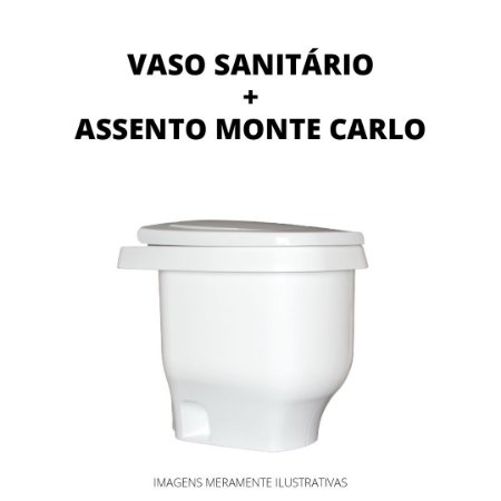 Kit Vaso Sanitário Modelo Zeuz + Assento Monte Carlo Plástico