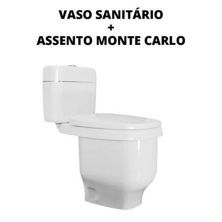 Kit Vaso Sanitário para MotorHome + Assento Monte Carlo de Plástico