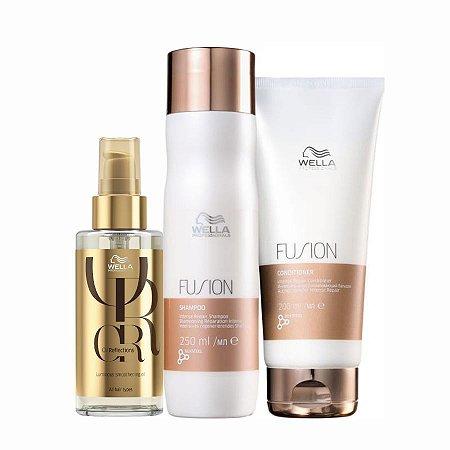 Kit Fusion Shampoo + Condicionador + Oil Reflections 100Ml