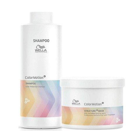 Kit Color Motion Shampoo 1000ml E Máscara 500ml Wella