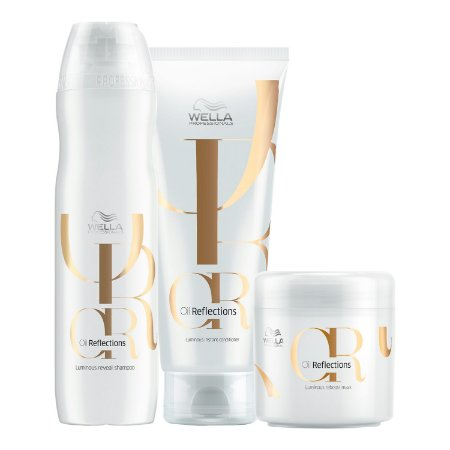 Kit Oil Reflections Tratamento (3 Produtos) - Wella Professionals
