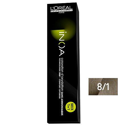 Coloração Loreal Inoa 8/1 Louro Claro Acinzentado - 60g