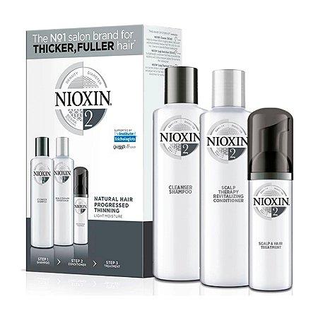 Nioxin System 2 Kit de Tratamento - Pequeno (3 Produtos)