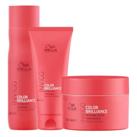 Invigo Color Brilliance Trio (3 Produtos) - Kit Wella Professionals