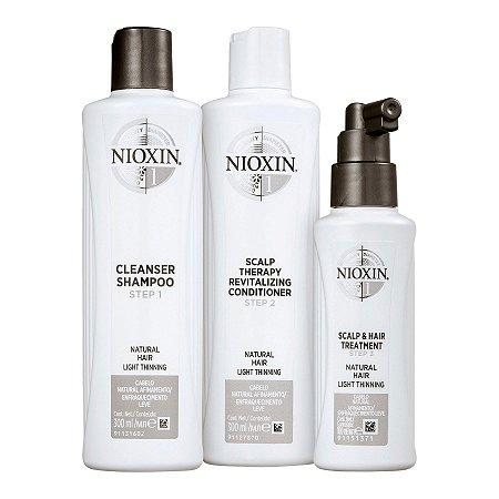 Nioxin System 1 Kit de Tratamento - Grande (3 Produtos)