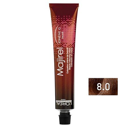 Coloração Majirel 8.0 Louro Claro Natural Profundo 50g - L'Oréal Professionnel