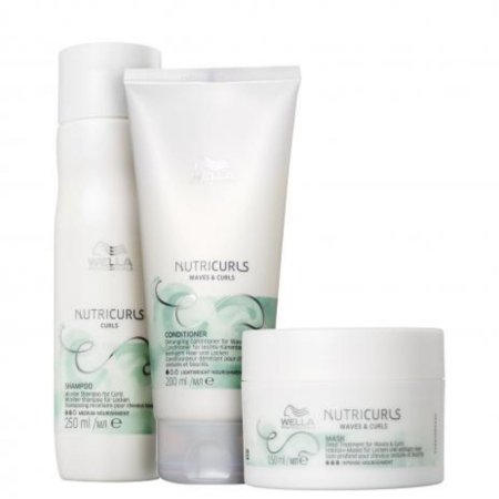 Kit Wella Nutricurls Waves E Curls - Home Care 03 Produtos