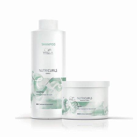 Kit Nutricurls Shampoo 1L + Máscara 500Ml - Wella Professionals